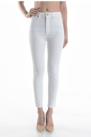 just black Highrise Skinny White - Front cropped