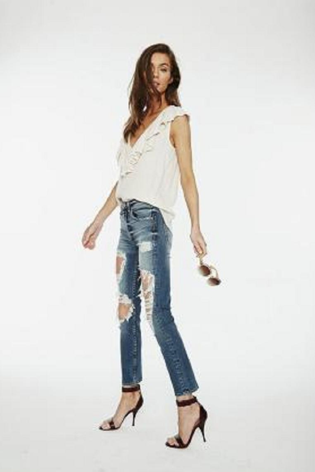 MCGUIRE DENIM Highrise Slim Jean - Front Cropped Image