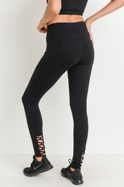 Mono B Highwaist Lattice Black Back Solid Full legging - Product Mini Image
