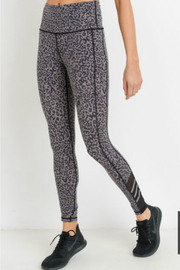 Mono B Highwaist Leopard Print Mesh Leggings - Product Mini Image