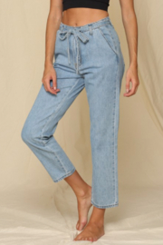 By Together  Highwaist Tie Mom Jeans - Product Mini Image