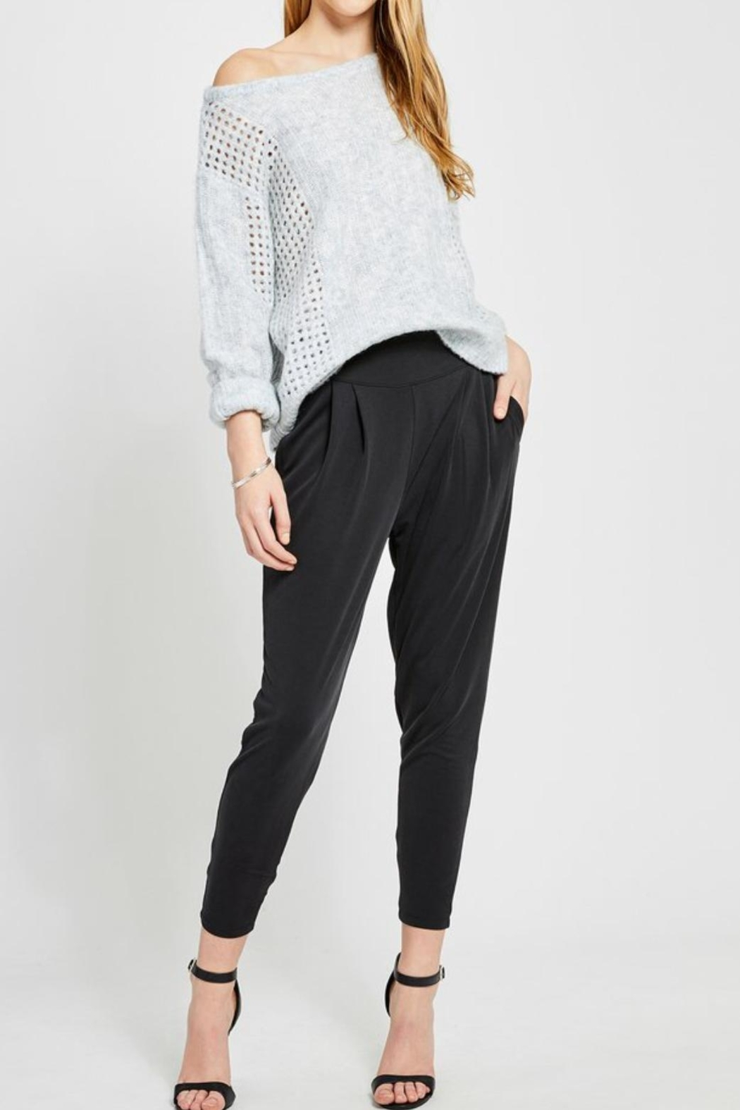 Gentle Fawn Highwaisted Cropped Pants - Front Cropped Image