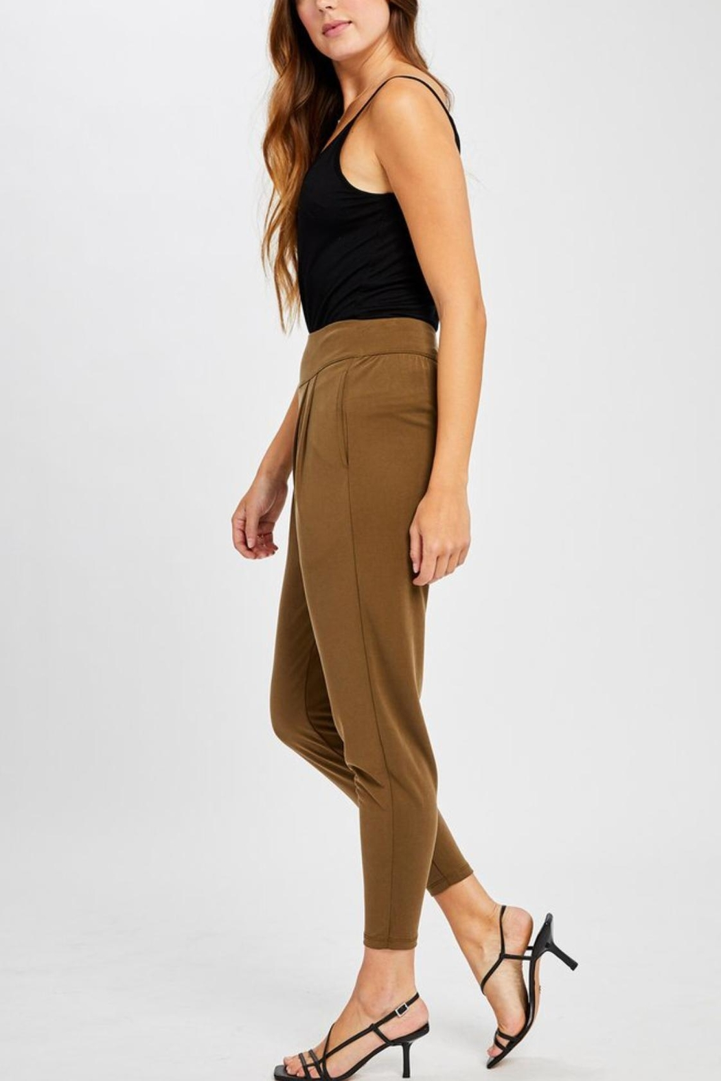 Gentle Fawn Highwaisted Cropped Pants - Front Full Image