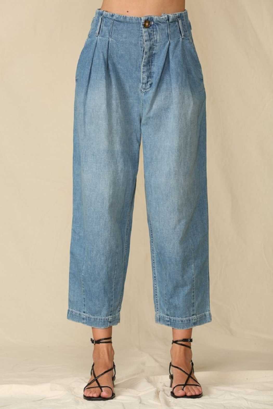 By Together  Highwaisted Woven Denim - Front Full Image