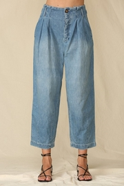By Together  Highwaisted Woven Denim - Front full body