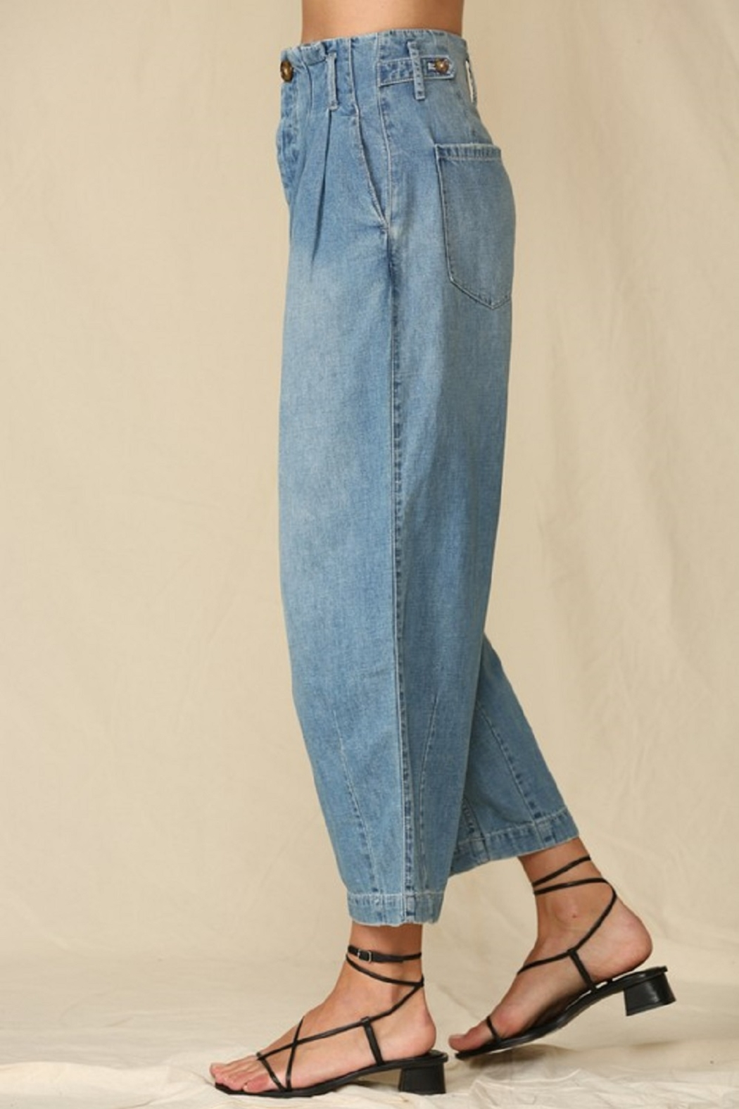 By Together  Highwaisted Woven Denim - Side Cropped Image