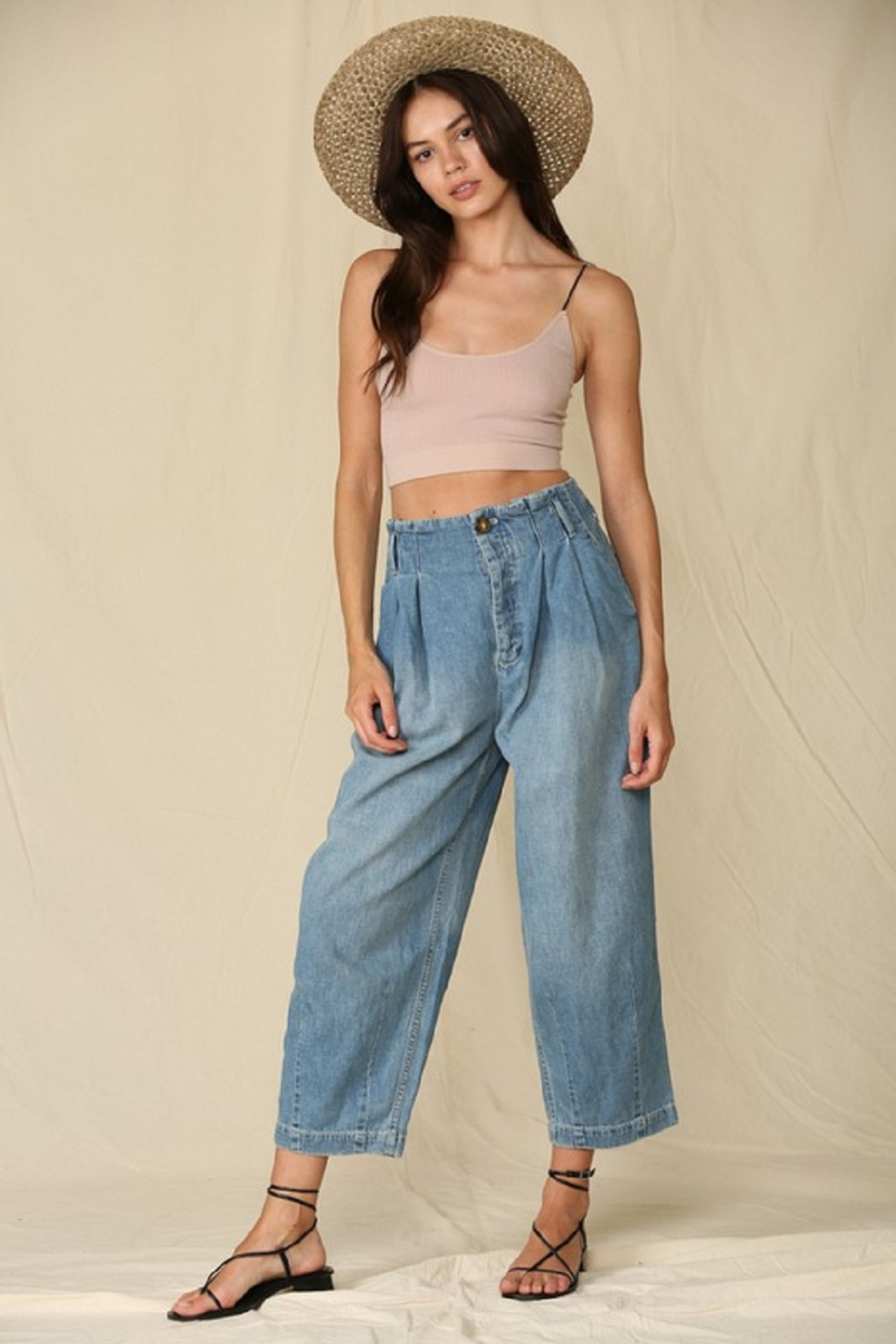 By Together  Highwaisted Woven Denim - Main Image