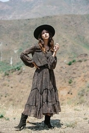 By Together Highwasted Spotted Maxi Skirt - Product Mini Image