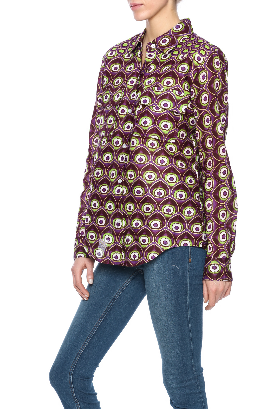 Hilary MacMillan Peacock Button Up - Main Image