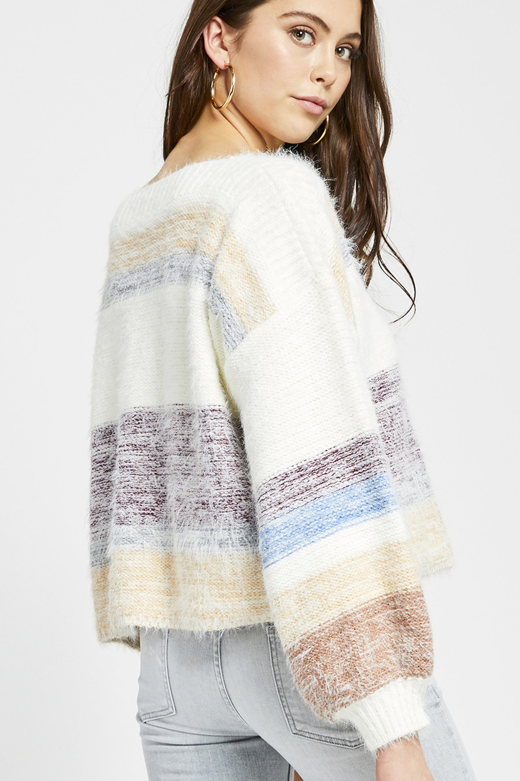 Gentle Fawn Hilda Striped Pullover Sweater - Side Cropped Image