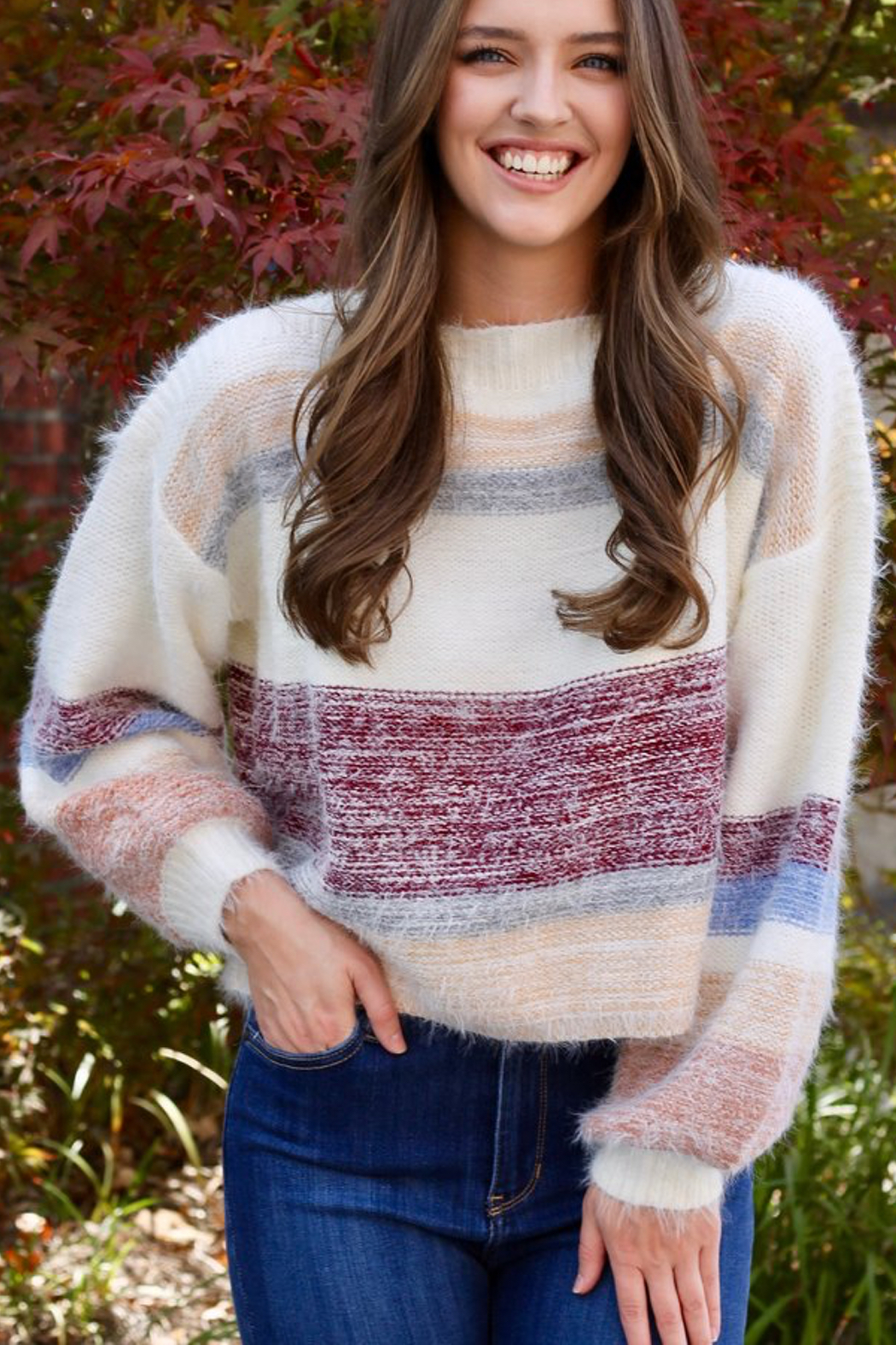Gentle Fawn Hilda Striped Pullover Sweater - Back Cropped Image