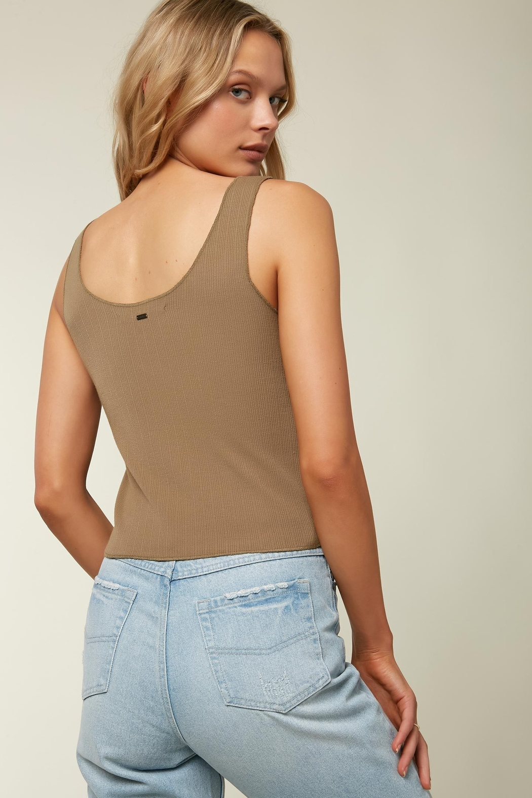 O'Neill Hill Button Ribbed Tank - Front Full Image