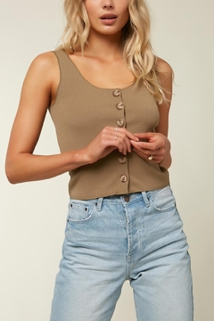 O'Neill Hill Button Ribbed Tank - Product List Image