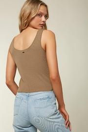 O'Neill Hill Button Ribbed Tank - Front full body