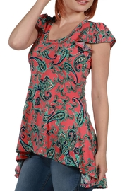 24/7 Comfort Apparel Hilo Pink Top - Front full body