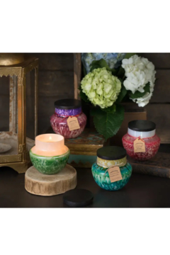 Himalayan Trading Co.  Himalayan Watercolor Glass Candle Ginger Patchouli - Alternate List Image