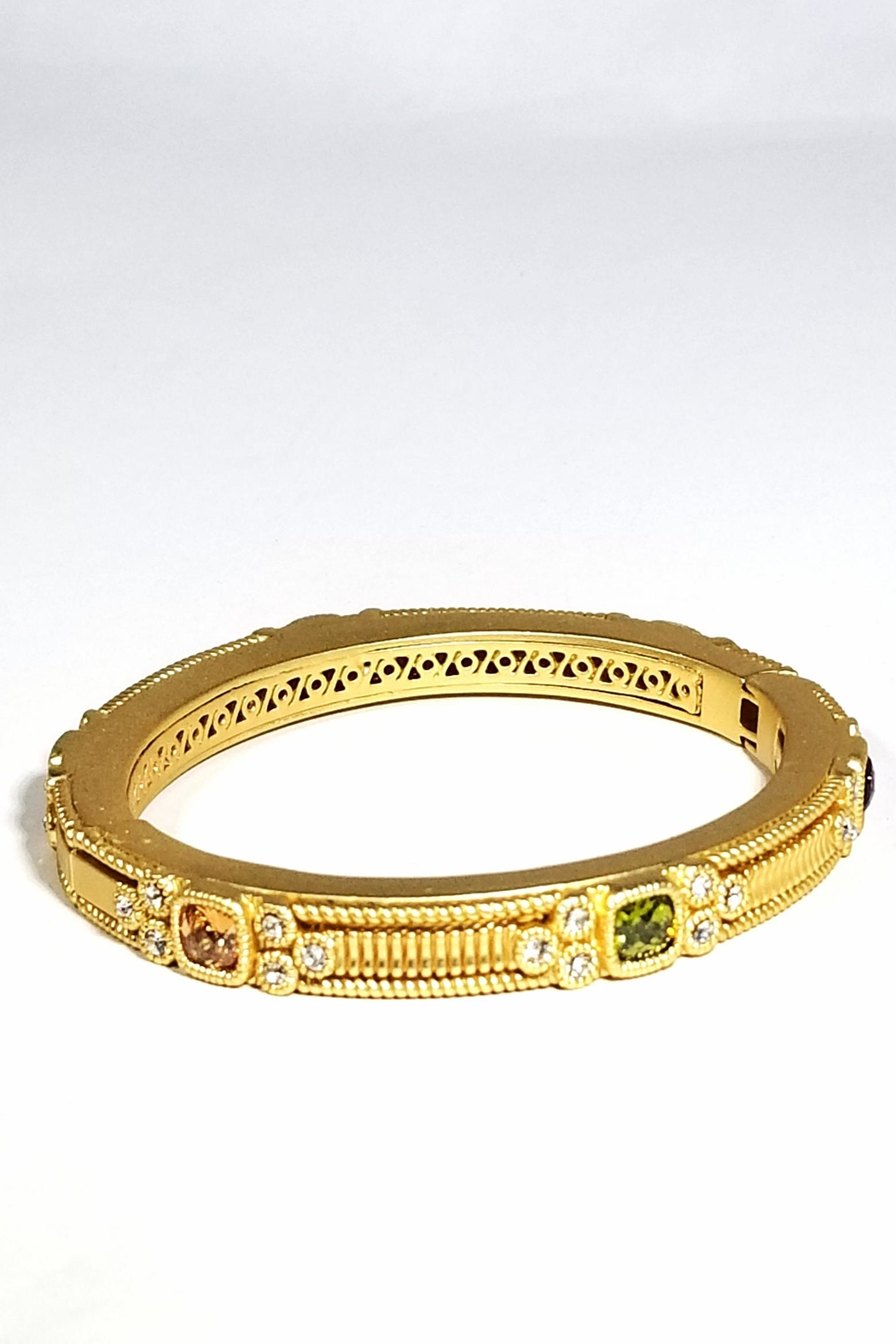 9a0ca7467a83c0 Italian Ice Hinged Golden Bangle from Maryland by Leila Jewels ...