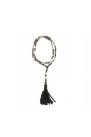HIPCHIK  Beaded Tassel Necklace - Front cropped