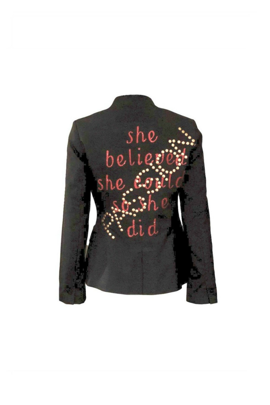 HIPCHIK  She Believed Blazer - Front Cropped Image