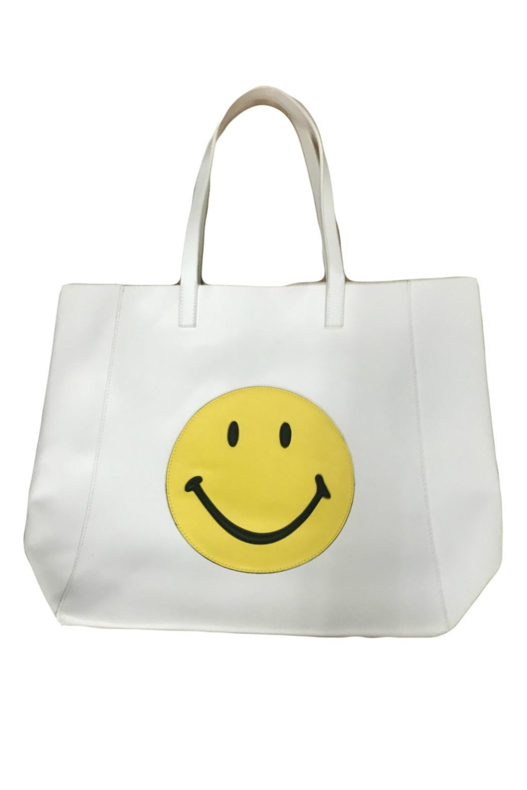 HIPCHIK  Smiley White Tote - Front Cropped Image