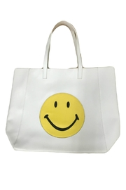 HIPCHIK  Smiley White Tote - Product Mini Image