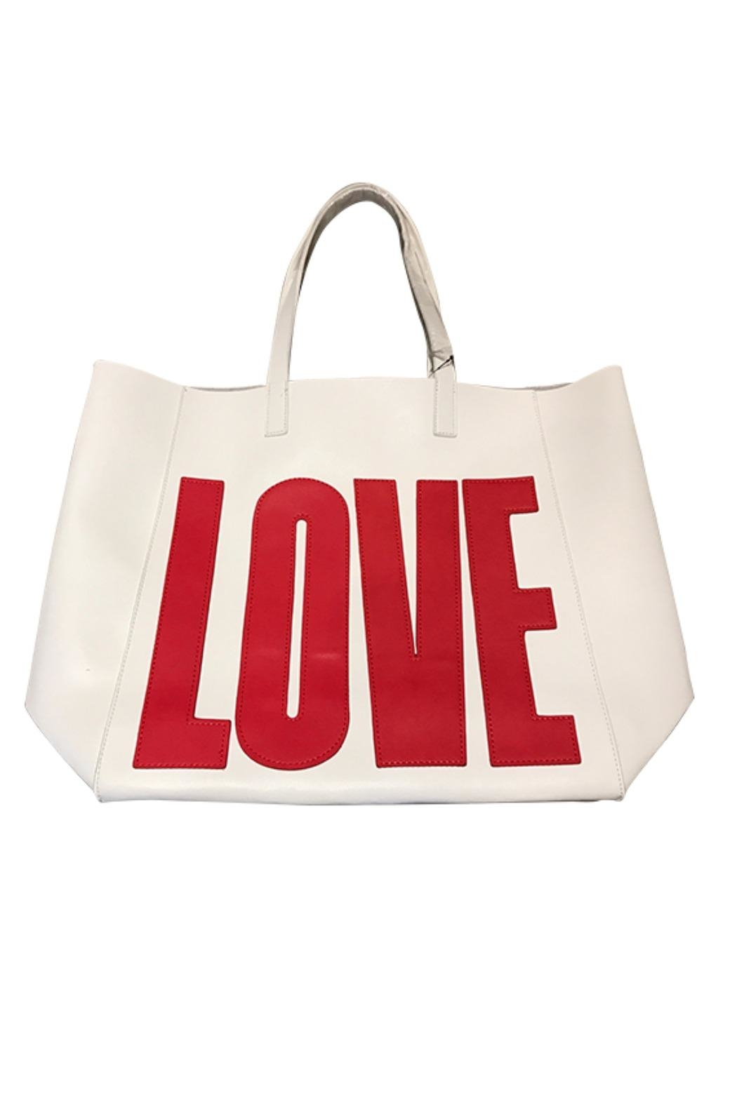 HIPCHIK  Vegan Leather Tote - Front Cropped Image