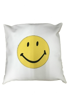 Shoptiques Product: White Smiley Pillow