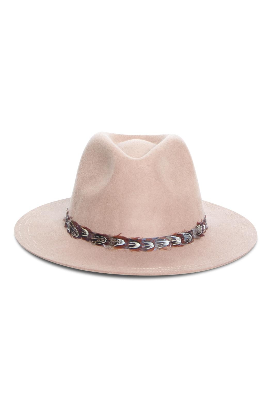 Rock Etiquette Hipster Feather Hat - Front Full Image
