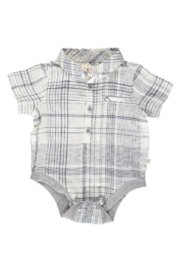 Me & Henry Hipster Plaid Onesie - Product Mini Image