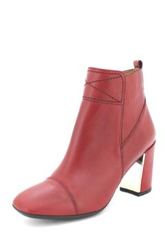 Hispanitas Deep-Red Ankle Booties - Alternate List Image