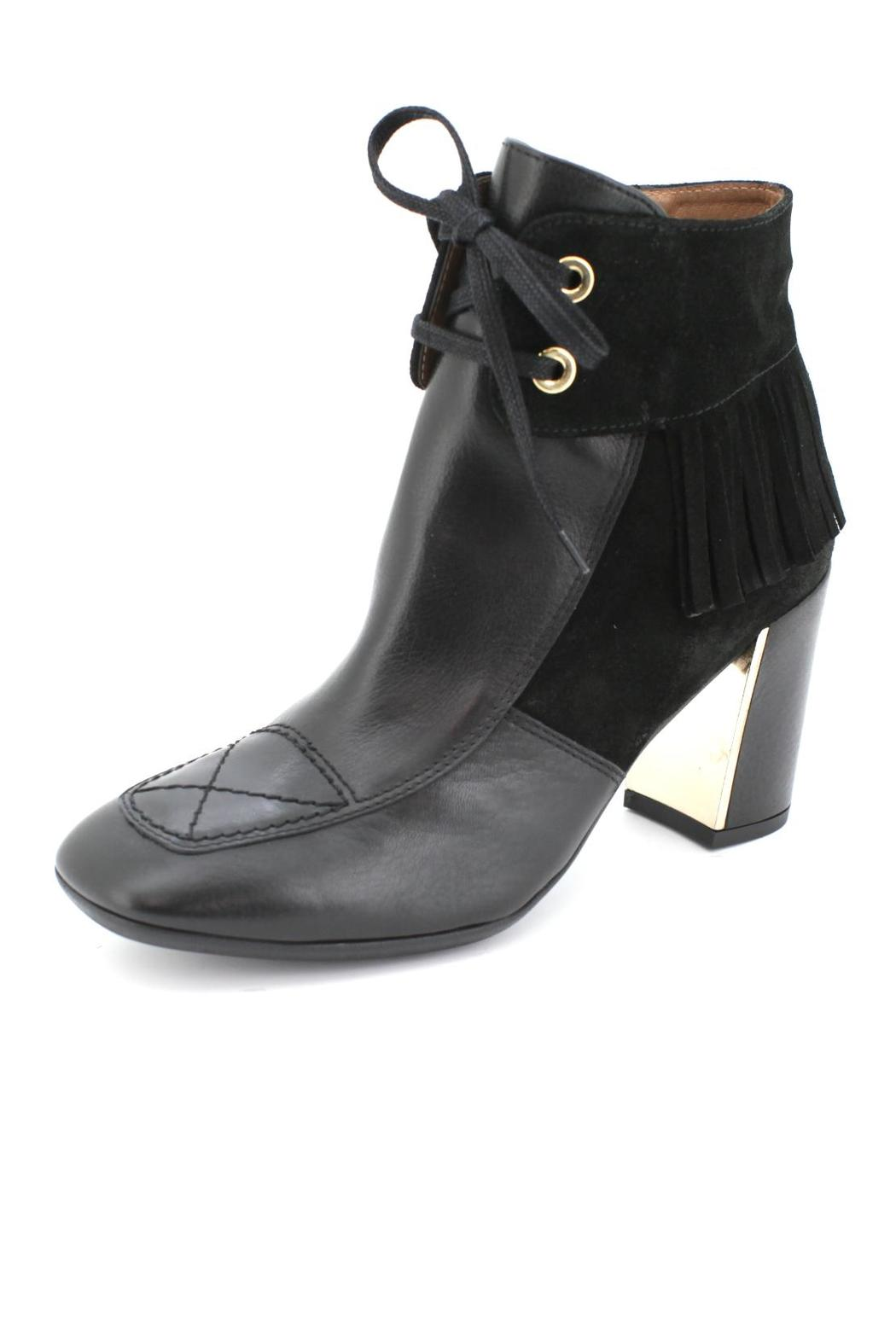 f54b34330ed2 Hispanitas Fringed Black Ankle-Bootie from Vancouver by Shoes2go ...