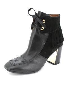 Hispanitas Fringed Black Ankle-Bootie - Alternate List Image