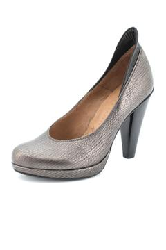 Hispanitas Pewter-Bronze Leather Pump - Alternate List Image
