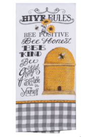 Kay Dee Designs Hive Rules Tea Towel - Front cropped