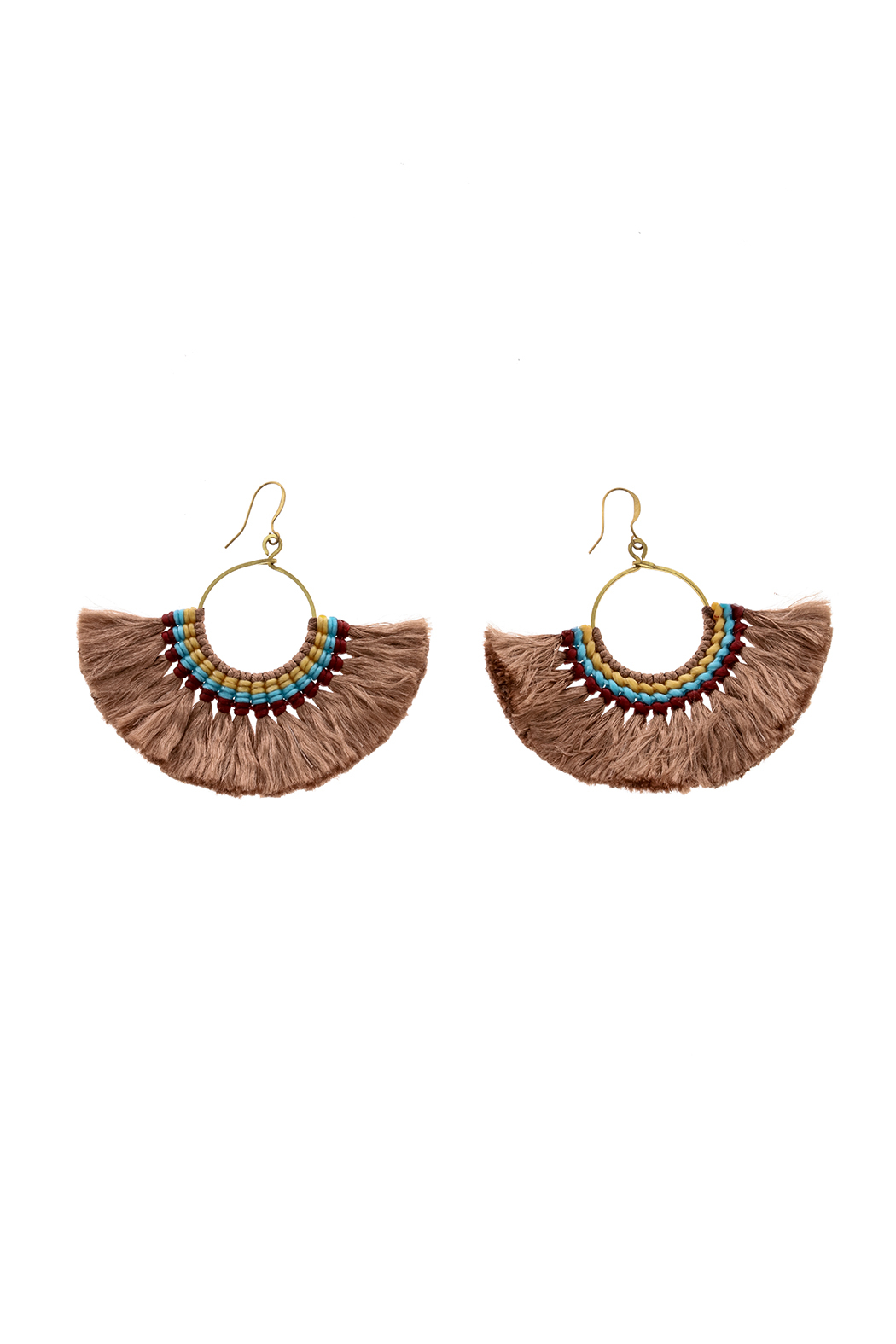 Hmong Tribe Boheme Tassel Earrings - Front Cropped Image