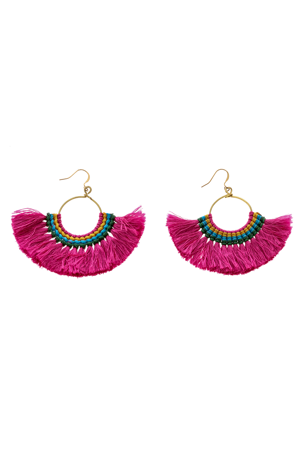Hmong Tribe Boheme Tassel Earrings - Main Image