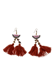 Hmong Tribe Hmong Tassel Earrings - Front cropped