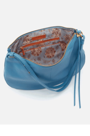 Hobo Cosmo Blue Leather Crossbody - Front full body