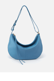 Hobo Cosmo Blue Leather Crossbody - Front cropped