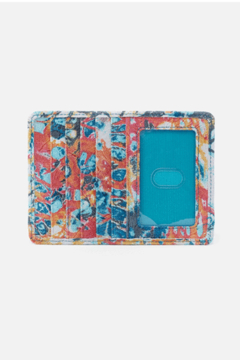 Shoptiques Product: Hobo Euro Slide Summertime Abstract Leather Credit Card Wallet
