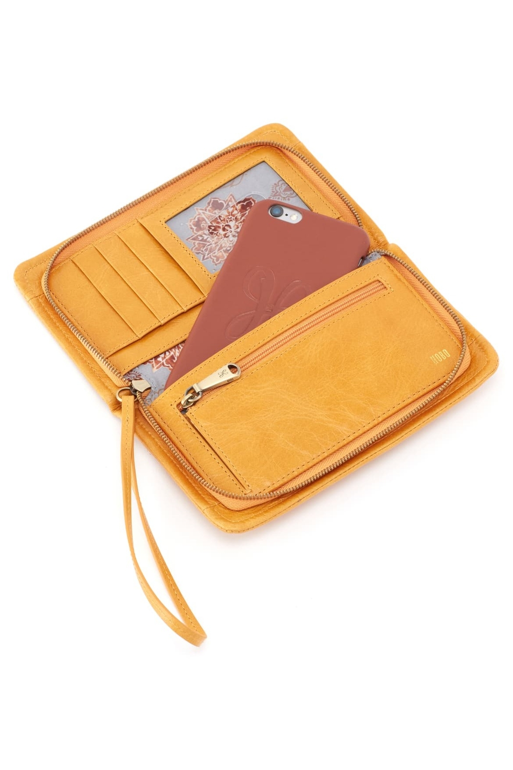 Hobo The Original Hobo Galaxy Wristlet in Amber - Front Full Image