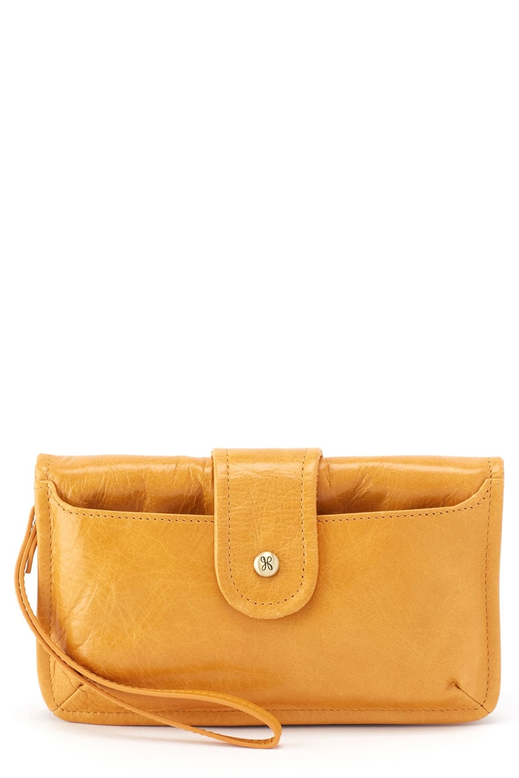 Hobo The Original Hobo Galaxy Wristlet in Amber - Front Cropped Image