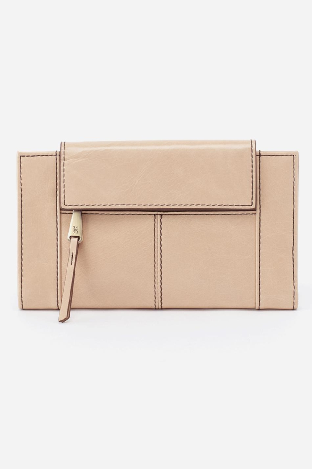 Hobo Pivot Leather Wallet - Front Cropped Image
