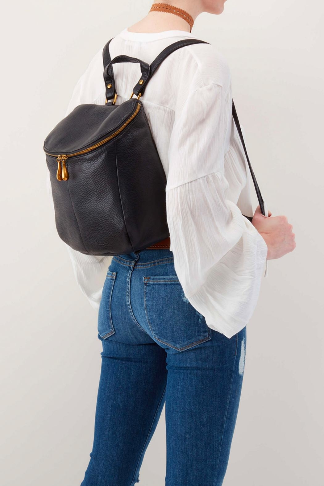 Hobo River Leather Backpack - Side Cropped Image