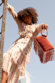Hobo The Original Hobo Sable Fringe Wristlet - Back cropped