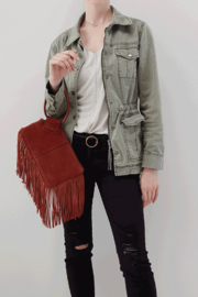 Hobo The Original Hobo Sable Fringe Wristlet - Side cropped