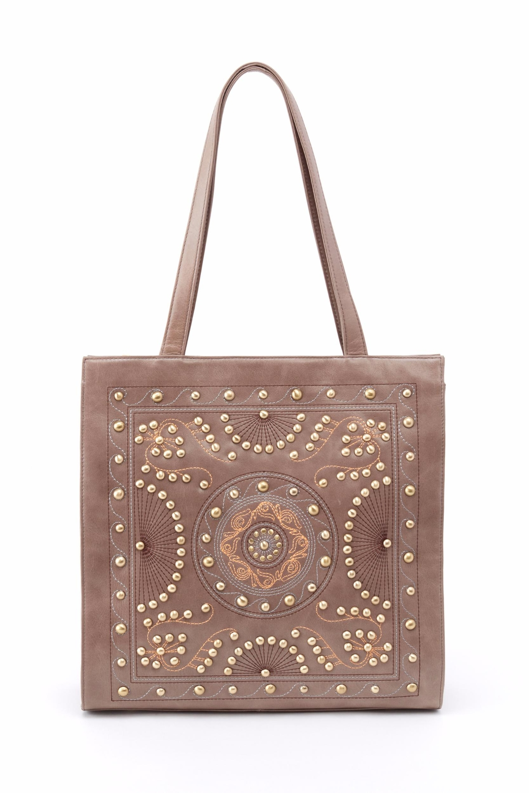 Hobo The Original Embroidered Leather Tote - Main Image