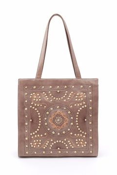 Shoptiques Product: Embroidered Leather Tote