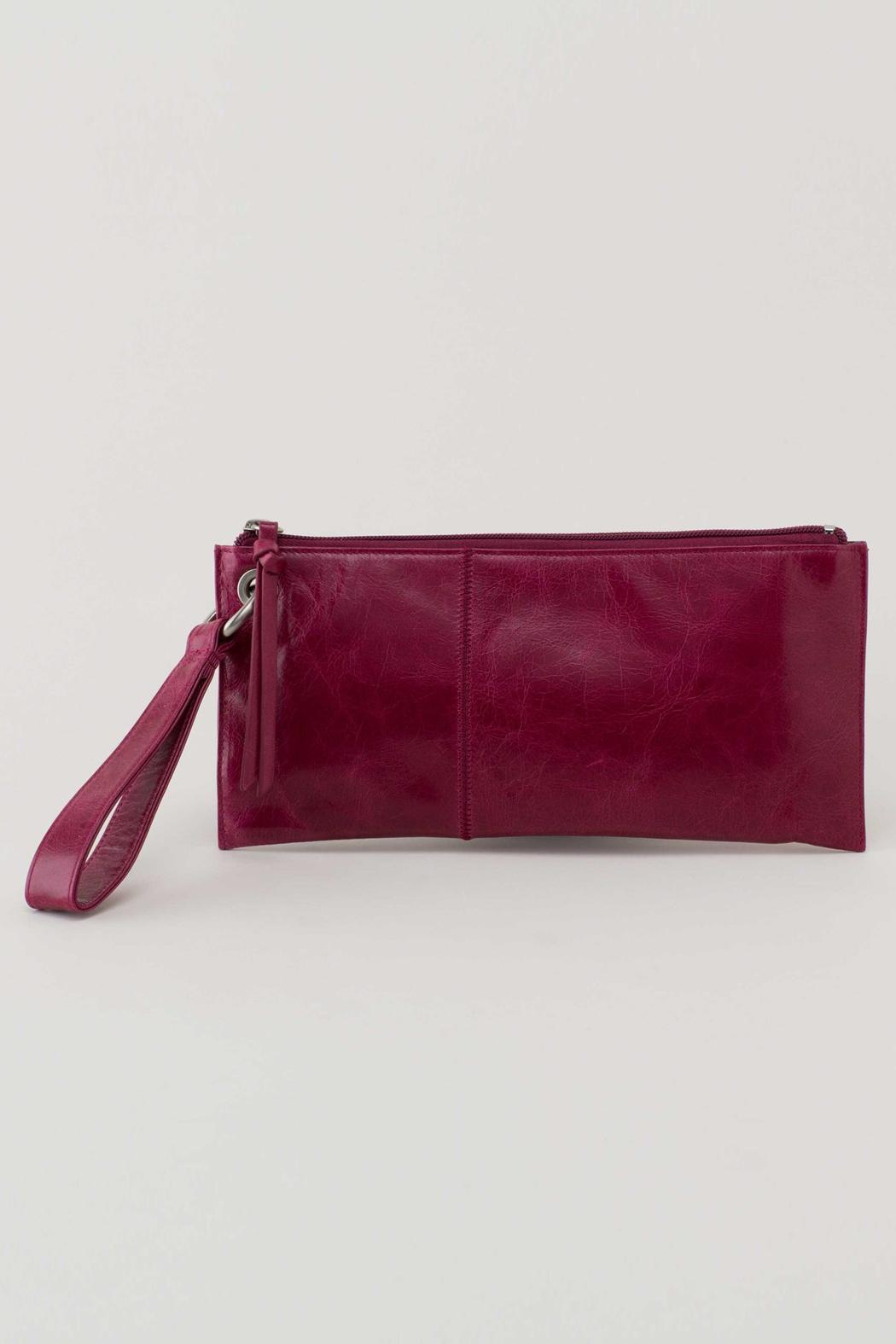 VIDA Leather Statement Clutch - Pink Flowerets by VIDA