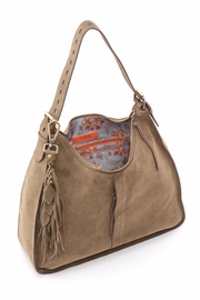 Hobo The Original Sage Suede Hobo - Front full body